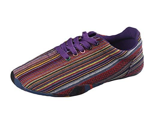 Artes Marcial Kung Fu Estilo Confort Transpirable Nacional Tai Chi Zapatos De Lona Zapatos De Sole Old Beijing Unisex Morado 37
