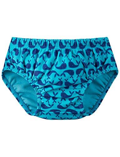 Schiesser Baby-Jungen Wal Willy Windelslip Badehose, Blau (Türkis 807), 62 (Herstellergröße: 412)
