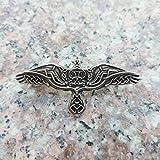 FISH4 1 Uds Broche Celtics para Mujer Suecia escandinavo Vikingo Cuervo Broche joyería talismán Broche para Mujer