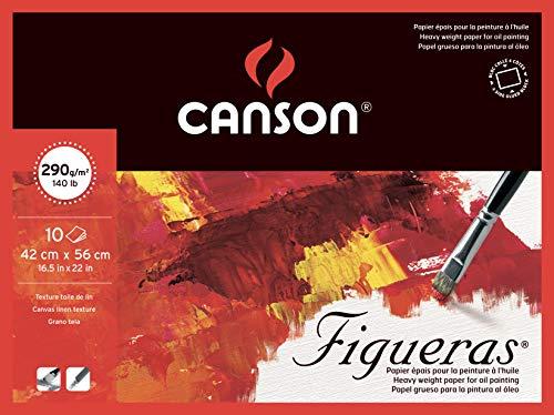 Canson Figueras - Bloc papel de dibujo, 56 x 42cm, color blanco natural