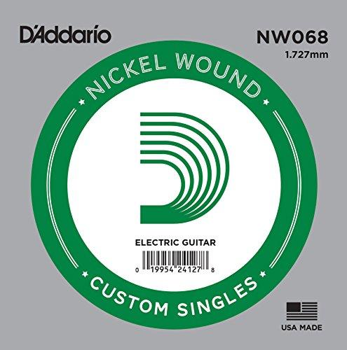 D'Addario NW068 Nickel-Einzelsaite für Gitarren 0,17 cm (0,068 Zoll)