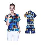 Hawaii Hangover Conjunto de Luau Hawaiano de Madre e Hijo Camisas en Puesta de Sol Blue Mujer...