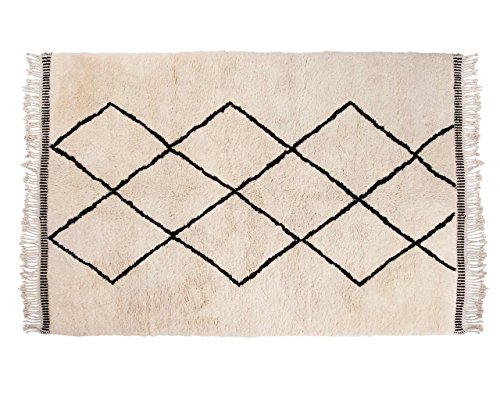 Sukhi Aicha: Marroquí de Beni Ouarain de Alta Pila de Lana Alfombra de Las montañas del Atlas con el Modelo de Diamond Compra Online (80cm x 100cm / 2' 7.5'' x 3' 3.4'')