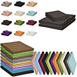 Qool24 Klassische Bettlaken 210x240cm zahlreiche Unifarben 100% Baumwolle Betttuch zum unterstecken -140x200cm & 160x200cm- Anthrazit