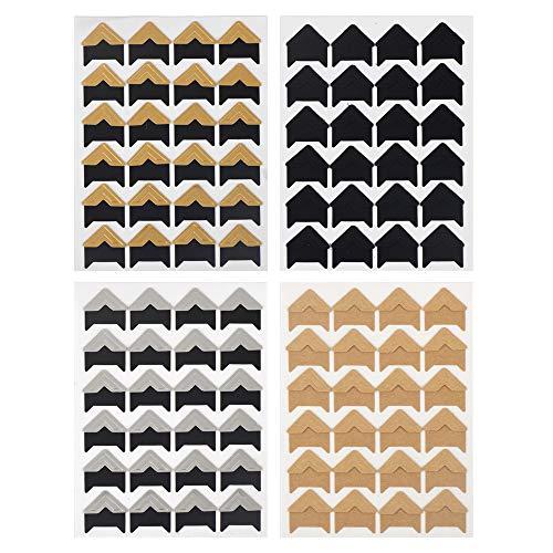 ewtshop® 240 Fotoecken im Set, selbstklebend, 5 Farben, Fotoklebeecken für DIY-Projekte, Fotoalben oder Erinnerungsbuch