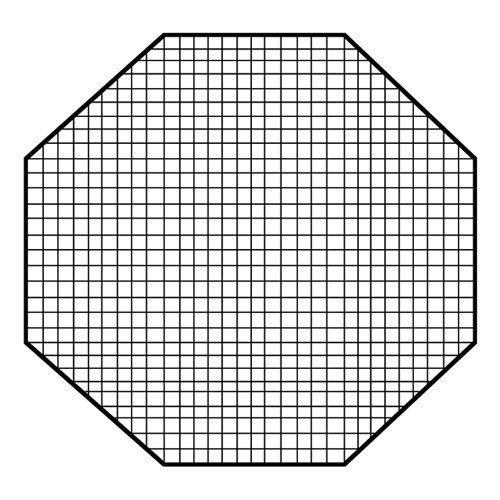 Fotodiox Pro Octagon Eggcrate Grid for 60' Softbox - Fits EZ-Pro & Pro Standard Softboxes - 50 Degrees 2x2x1.5' Openings