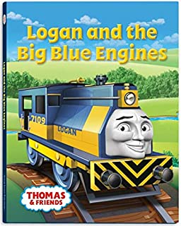Logan Big Blue Engine Hardcover Book - Thomas Wooden Railway Train Tank Engine