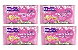 Brachs Tiny Conversation Hearts Candy Valentines Day Bulk Pack of 4 Bags - 14 oz Per Bag - 56 oz Total - 6 Assorted Flavors - Wintergreen, Banana, Orange, Grape, Cherry, and Lemon