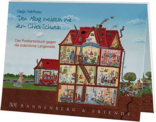 Postkartenbuch Alltag meistern mit dem Chaos Schwein, Postkarte Ansichtskarte