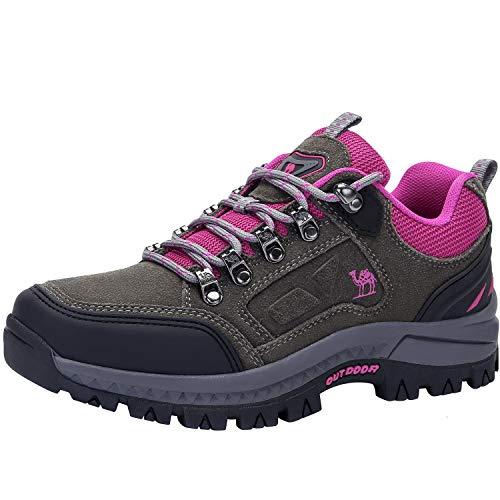 CAMEL CROWN Damen Wanderschuhe Outdoor Trekking Schuhe Sport Hiking Bergschuhe für Klettern Reisen Täglichen Gebrauch Trainer