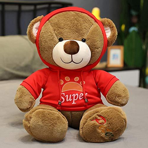 Pluchen Speelgoed Schattige Trui Teddy Bear Knuffel Beer Grote Trenchcoat Bear-red_40cm
