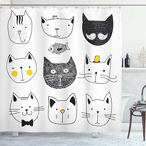 Ambesonne Cat Shower Curtain