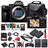 Sony Alpha a7 III Mirrorless Digital Camera (Body Only) (ILCE7M3/B) + 64GB Memory Card + NP-FZ-100 Battery + Corel Photo Software + Case + External Charger + Card Reader + HDMI Cable + More (Renewed)