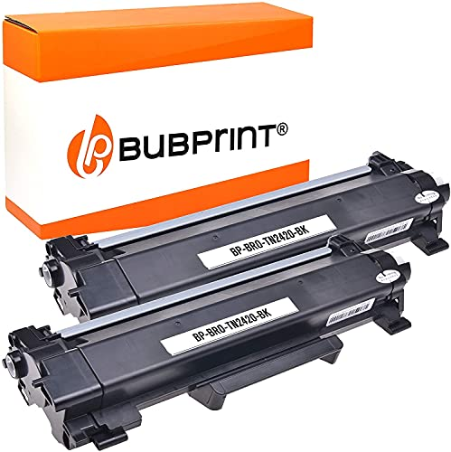 Bubprint Kompatibel Toner als Ersatz für Brother TN-2410 TN-2420 DCP-L2510D DCP-L2530DW DCP-L2550DN HL-L2310D HL-L2350DW HL-L2370DN HL-L2375DW MFC-L2710DN MFC-L2710 MFC-L2730 MFC-L2750 DW BK 2er-Pack