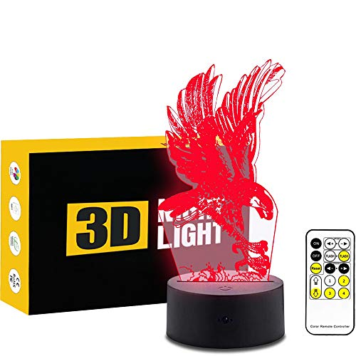 Les Lazy 3D Illusion d'optique Lampe 7 Couleurs changent Bouton Tactile Sensible et 15 Touches télécommande lumière de Nuit Produit des Effets de lumière Unique Visualisations Art Sculpture lumière