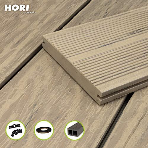 HORI® WPC-Terrassendiele Komplettset Maui Massiv beige I Fläche: 5 m² I 2,90 m Dielenlänge