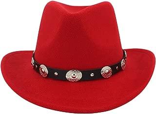 Men & Women's Felt Wide Brim Western Cowboy Hat