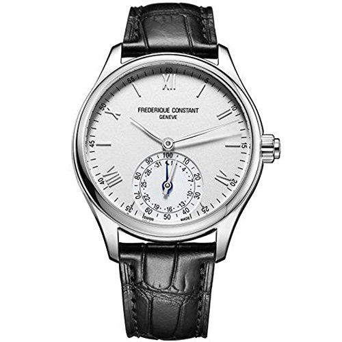 FREDERIQUE CONSTANT Unisex Datum Norm Quarz Uhr mit Leder Armband FC-285S5B6