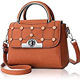 PU de las mujeres bolso, bolso de hombro Crossbody de los remaches de las señoras botones de gran capacidad de bolsa diaria del viaje del vintage elegante, mujeres, bolsos Top-Handle Bags, correa for