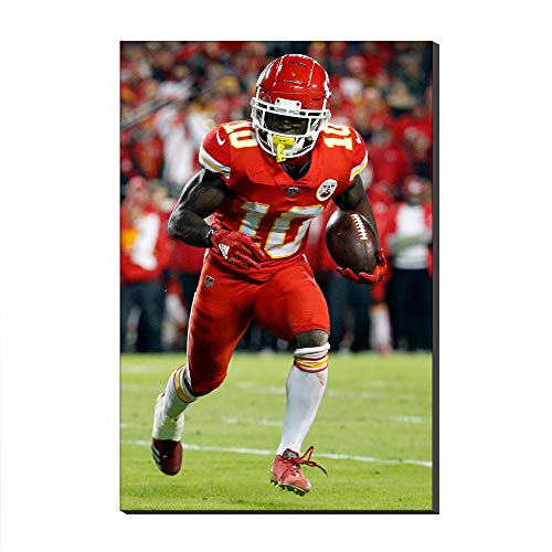 WALKKING WAYS Wall Art Canvas Picture NFL Kansas City Chiefs Tyreek Hill Cool Move American Football Rugby Sports Poster Painting Print for Living Room (Unframed,30x50 cm)