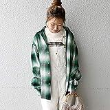 カージュ(Khaju) CALTOP:チェックシャツ【グリーン/ONE SIZE】