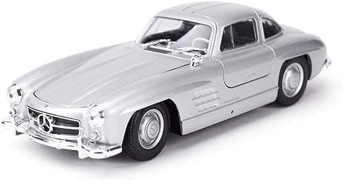 SHLIN-Modèle de voiture Alliage de voiture moulé sous pression modèle de voiture Simulation 1 24 Ratio modèle de voiture Mercedes-Benz 300SL rétro classique modèle de voiture cadeau pour Garçons tout-
