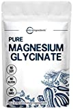 US Origin Pure Magnesium Glycinate Powder, 250 Grams, Strongly Support Bone, Cardiovascular and Muscle Health, No GMOs and Vegan Friendly
