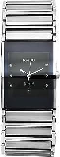 Rado Men's R20784759 Integral Black Dial Quartz Stainless Steel Watch