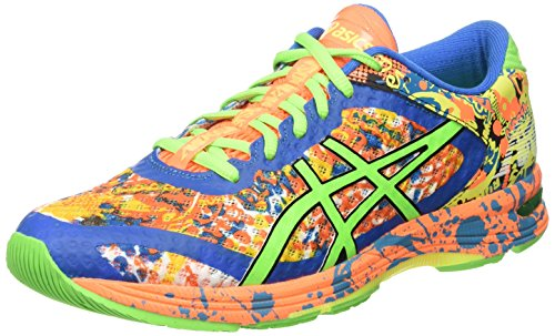 Asics Gel-Noosa Tri 11, Zapatillas de Running Hombre, Multicolor (Hot Orange/Green Gecko/Electric Blue), 41.5 EU