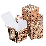 Logbuch-Verlag - Caja de cartón pequeña con forma de corazón, 7 x 7 cm, color marrón, negro y blanco 50 unidades