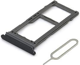 MMOBIEL Dual SIM Card Tray Compatible with Samsung Galaxy S8 G950 / S8 Plus G955 (Black) incl Sim pin