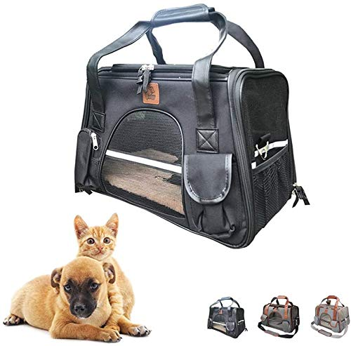 Dog travel bag Dog Carrier, Dog Carriers for Cars, Cat Carrier Bag Soft Airline Approved Travel Carrier Airline Portable Travel Pet Bag, Suitable for Medium And Small Dogs And Cats SLZFLSSHPK