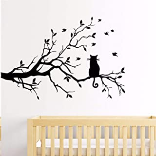 TAOZIAA Tree Branch Wall Stickers Living Room Bedroom Cat Wall Stickers Glass Window Stickers Hot Sale Wholesales