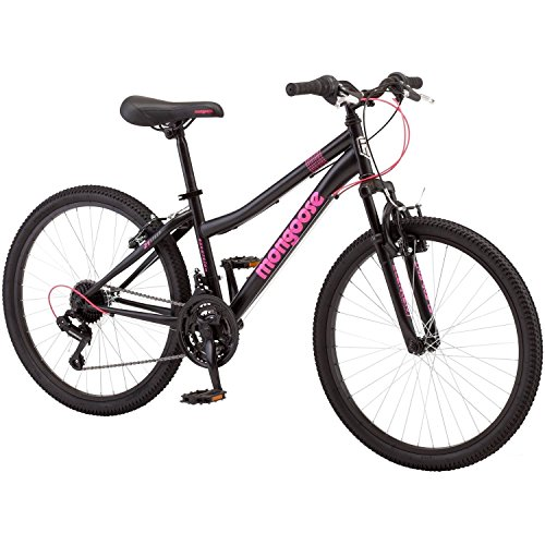 Mongoose 2434 Excursion Girls39; Mountain Bike, Black/Pink