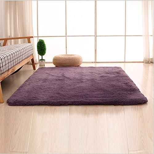 Geometric Nordic Gekleurd vloerkleed – eenvoudig, modern, lang suède – slaapkamer – nachtwoonkamer – klimaatherinnerings-schuim – antislip tapijt