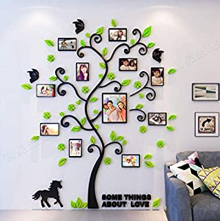 Creative 3D Arcylic DIY Family Photo Frame Tree Wall Sticker Home Decor Living Room Bedroom Art Picture Frame Wall Decals ...