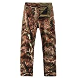Eglemall Men's Military Tactical Hunting Pants Fleece Softshell Trousers Tree Camo S