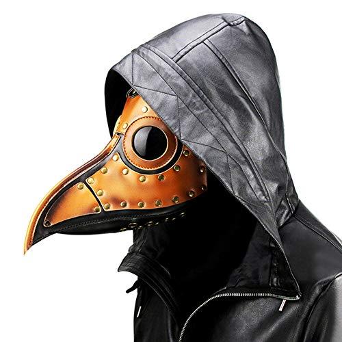 ACC pest dokter vogel masker, lange neus snavel vogel hoofd masker, gotische steampunk leer cosplay retro masker, halloween kerstbal kostuum props