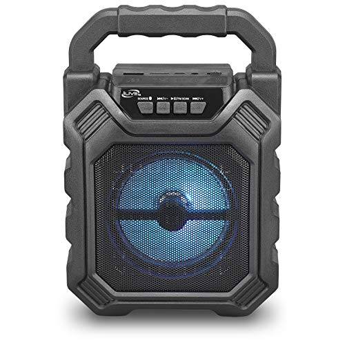 iLive ISB199B Wireless Tailgate Party Speaker, with LED Light Effects and Built-in Rechargeable Battery, Black