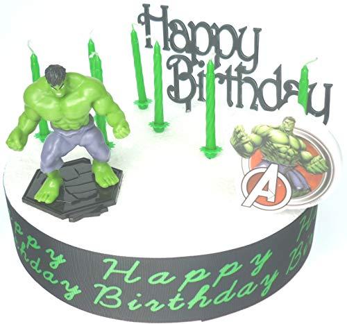 Hulk - Juego de decoración para tarta de cumpleaños