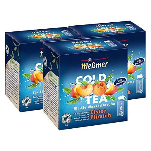 Meßmer Cold Tea Eistee Pfirsich, 14 Pyramidenbeutel / 3er Pack