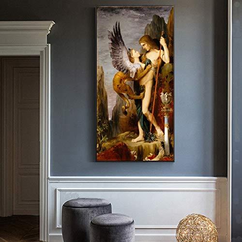 ganlanshu Ölgemälde auf Leinwand malte berühmte Wandkunstbilder für Wohnzimmerdekoration,Rahmenlose Malerei,60X120cm