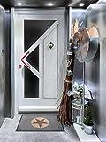 Carpet Diem Fussmatte Soft Stern 50x75cm Velour Schmutzfang Rahmen, Rückseite rutschhemmend saugstarkes Garn der Schmutzfangmatte nimmt Schmutz und Wasser auf für draussen und drinnen - 6