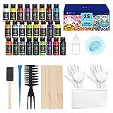 Pintura Acrílica para Pouring Paint 25 Colores Kit de Pinturas Acrílicas Fluida y Aceite...