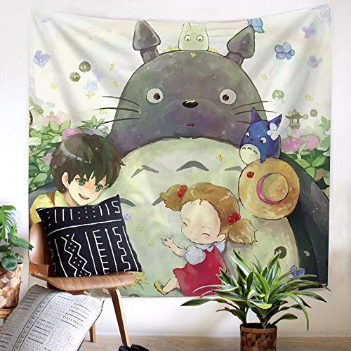 JUZSZB Tapiz Pared,Anime Mi Vecino Totoro Tapiz Tela De Fondo Montado En La Pared Tapices Arte Hogar Sala De Estar Dormitorio Toalla De Playa-El 150X210Cm_003