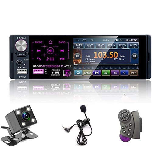 "Single Din Auto Stereo Radio, 12V 4.1"" Auto MP5 Player mit Bluetooth Audio & Hands-Free Calling, FM Receiver USB/AUX-in/SD Kartenanschluss + Steuerung Fernbedienung & Backup Kamera"