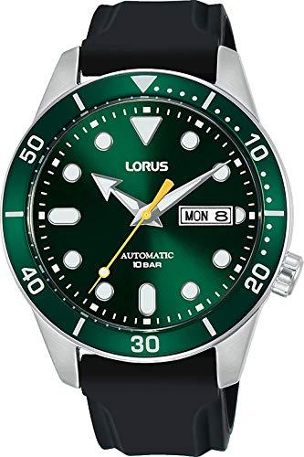Lorus Herren Analog Automatisch Uhr mit Silicone Armband RL455AX9