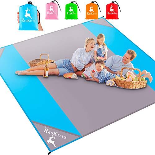 AMZOON 215 x 215 cm XXL Picknickdecke Wasserdicht Stranddecke Decke Für Ausflüge Beach Strandmatte