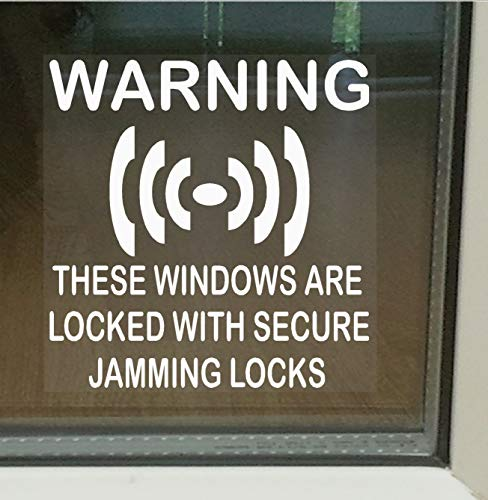 Platinum Place 6 x Secure Jamming Locks Window Stickers-Sash Lock Beveiliging Waarschuwingsborden voor huis, Thuis, Plat, Zakelijk, Eenheid, Eigendom Zelfklevende Vinyl