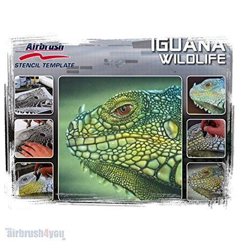 Iguana Wildlife A4 Airbrush sjabloon IGUANA Harder